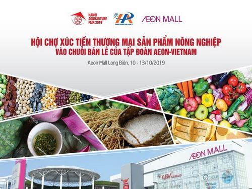 Hội chợ Xúc tiến thương mại các sản phẩm nông nghiệp vào chuỗi bán lẻ hiện đại AEON