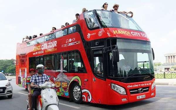 Xe buýt 2 tầng City tour bổ sung thêm lộ trình phục vụ khách du lịch thủ đô