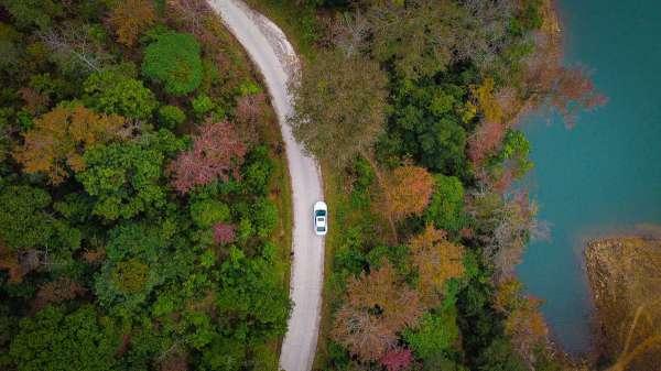 Rừng Trùng Khánh mùa lá đỏ đẹp như mùa thu trời  u giữa ngày đông lạnh giá