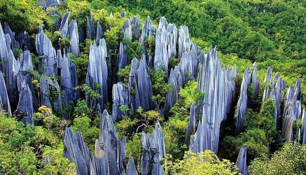Khu rừng đá thu hút khách du lịch ở Trung Quốc
